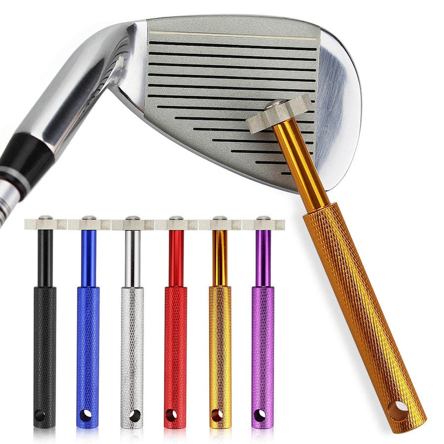 Golf Swing Trainer + Golf Club Grooving Sharpening Tool - Single Athletics