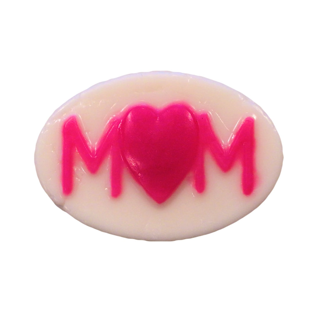 Mom with a heart soap with a surprise inside