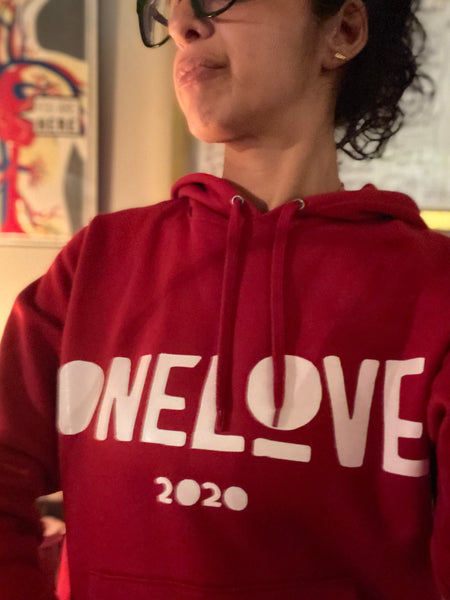 ONE LOVE x EVERYWHERE Red Champion® Hoodie