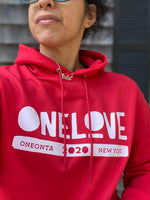 ONE LOVE x ONEONTA Red Champion® Hoodie