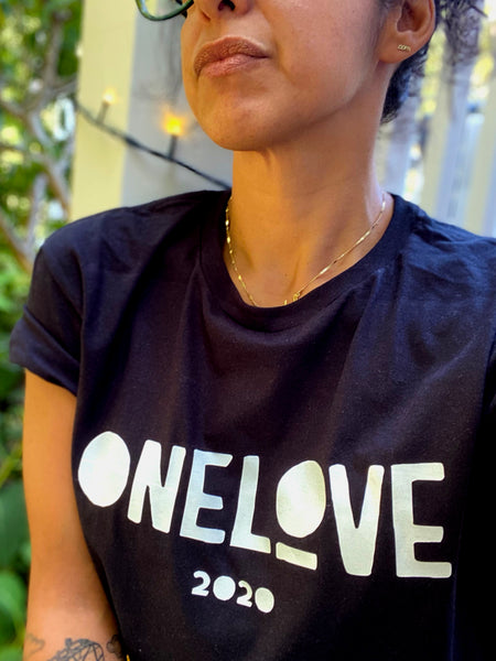 ONE LOVE x EVERYWHERE Black T-Shirt