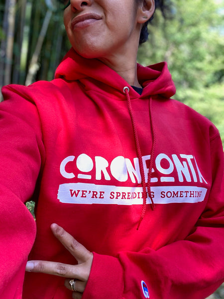 CORONEONTA Red Champion® Hoodie