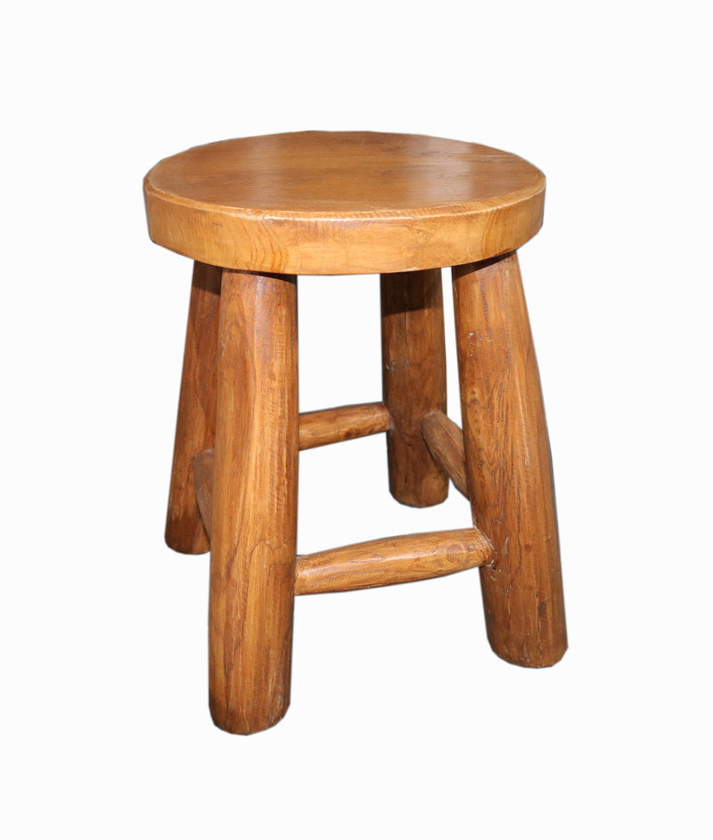 Oiled Teak Stool