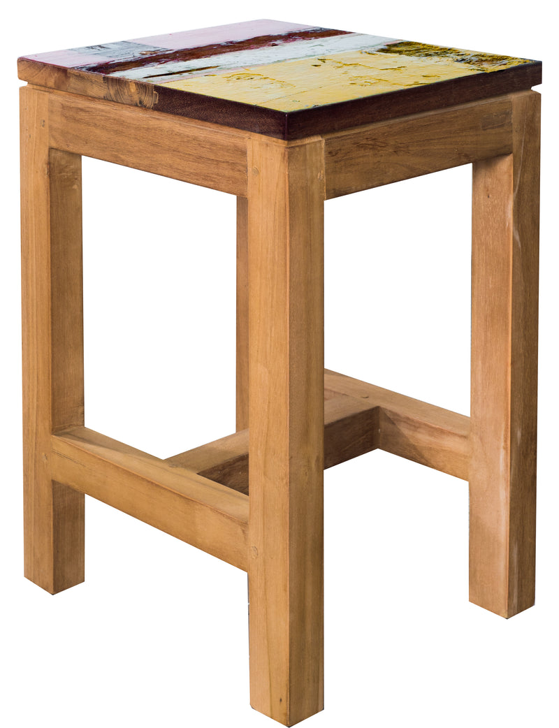 Teak Hocker Stool