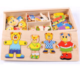 Kids Wooden Puzzle Set