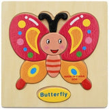 Baby Wooden 3d Puzzle Cartoon Intelligence Learning Jigsaw