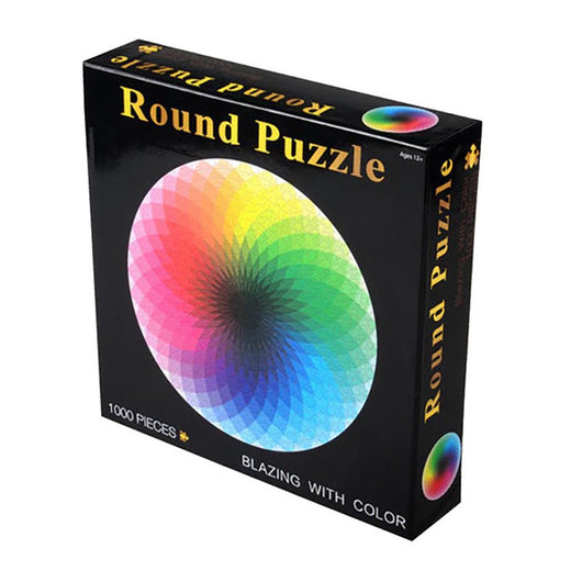 Kuulee pcs/set Colorful Rainbow Round Geometrical Photo Puzzle