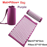 Relieve Stress Pain Yoga Massager Mat Natural Relief Stress Tension Body Massage Pillow Cushion Acupressure Mat