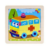 Intelligence Kids Wooden 3D Puzzle Jigsaw Learning Toys