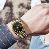 Gaiety Gold Luxury Waterproof Quartz Wristwatch