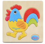 3D Wooden Puzzle Jigsaw Toys For Children