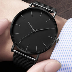 Simple Metal Quartz Casual Watches