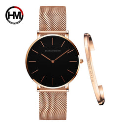 Japan Quartz Waterproof Rose Gold Stainless Steel Ladies watch