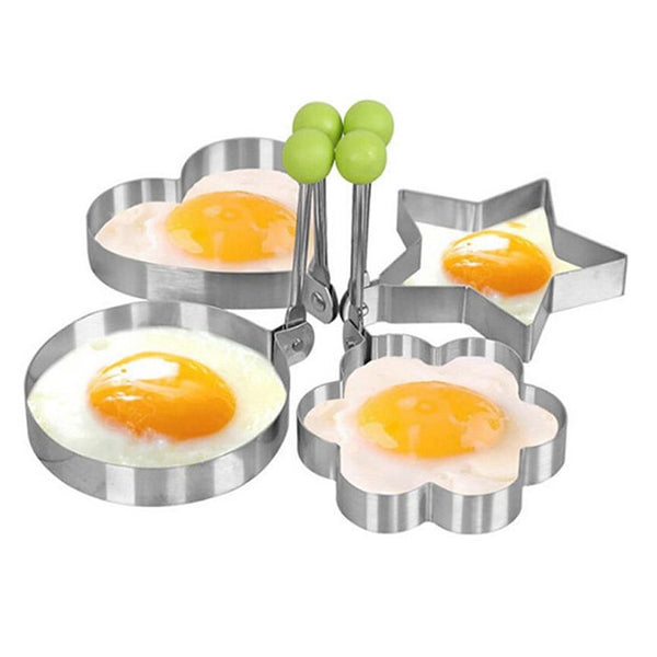 Creative Four Shapes Stainless Steel Fried Egg Maker Pancake Mold Home DIY Breakfast Egg Sandwich Kitchen Baking Utensil Tools