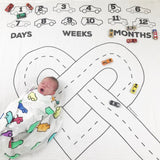 Baby Monthly Growth Swaddle Blanket