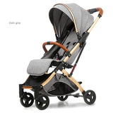 Babyfond 5.8 kg Gold Frame Portable Light Stroller