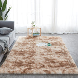 RULDGEE Shaggy Tie-dye Carpet Printed Alfombra Plush Floor Fluffy Mats Kids Room Faux Fur Area Rug Living Room Mats Silky Rugs