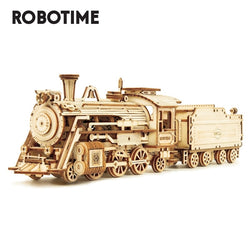 Robotime Rokr 6 Kinds DIY Laser Cutting Mechanical Wooden Model
