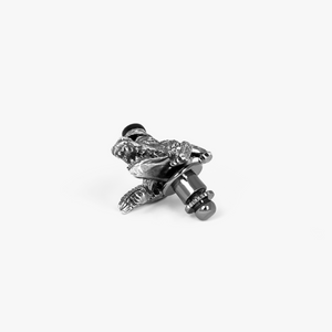 Alligator animal pin with antique finish