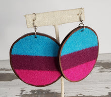 Load image into Gallery viewer, Wool & Leather Earrings