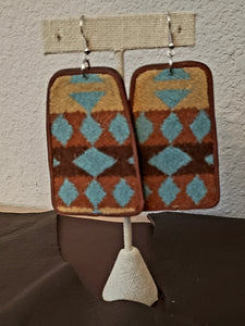 Wool & Leather Earrings