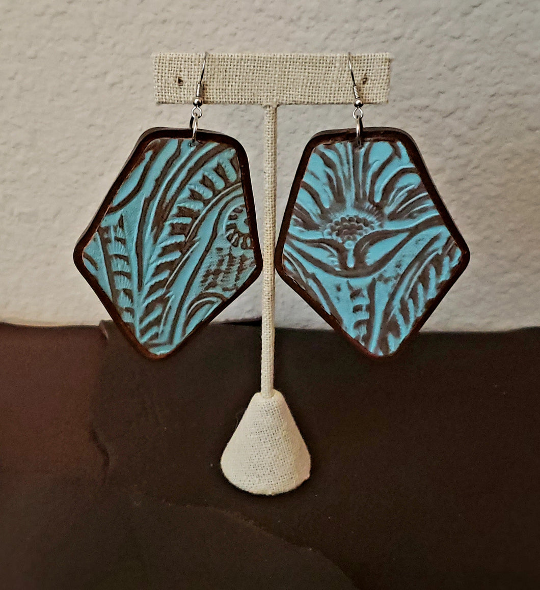 Leather Print Earrings