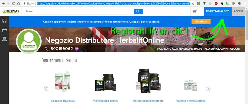 Goherbalife Giovanni Rusconi Registrati in un clic!