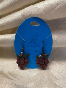 Ceramic Grapes Earrings