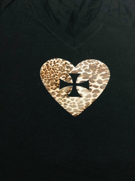 Printed Heart  print - T-shirt
