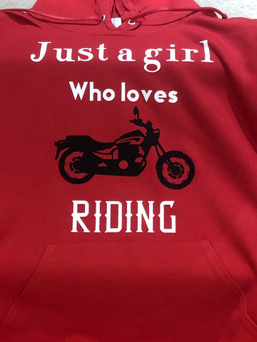 Hoodie - Just a girl who loves Riding