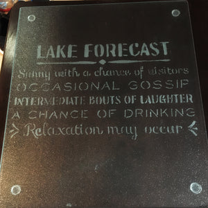 Engraved Glass- LAKE RULES - glassware