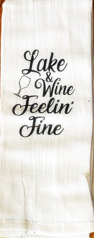 Kitchen Towel - Lake Wine Feelin Fine ( Home Decor)
