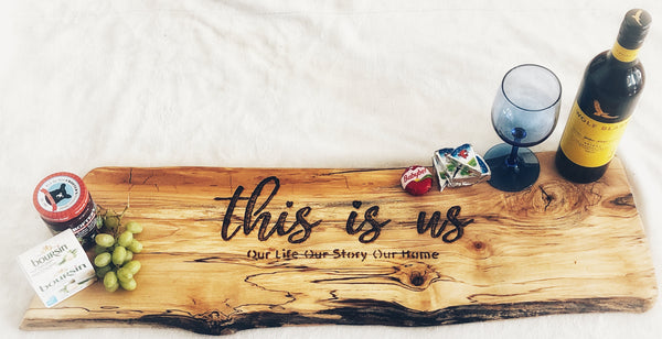This is us - Our life, our story, our home   Charcuterie ( Home Decor)