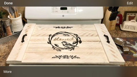 Wood - Stove Top Cover / Noodle Board