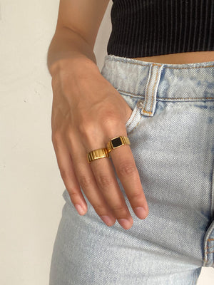 Mercury Black Onyx Ring