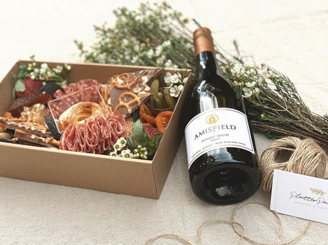 Small Grazing Box with Wine