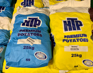 White potatoes (washed) - 1kg