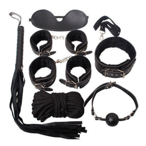 Sexy Bondage Set Adult Kit Collar Ballgag Blindfold HandCuffs cuff Fetish - UK Seller - DISCREET Free and Next Working Day Delivery Options Available