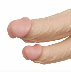 Double head Dildo 8 Inch Large Realistic Dong G Spot Massage Anal Stimulation Adult Unisex Sex Toy - UK Seller - DISCREET Free and Next Working Day Delivery Options Available