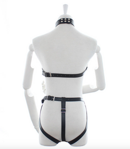 Sexy Leather Body Harness Restraint Fetish Costume Bondage unisex - UK Seller          DISCREET Free and Next Working Day Delivery Options Available