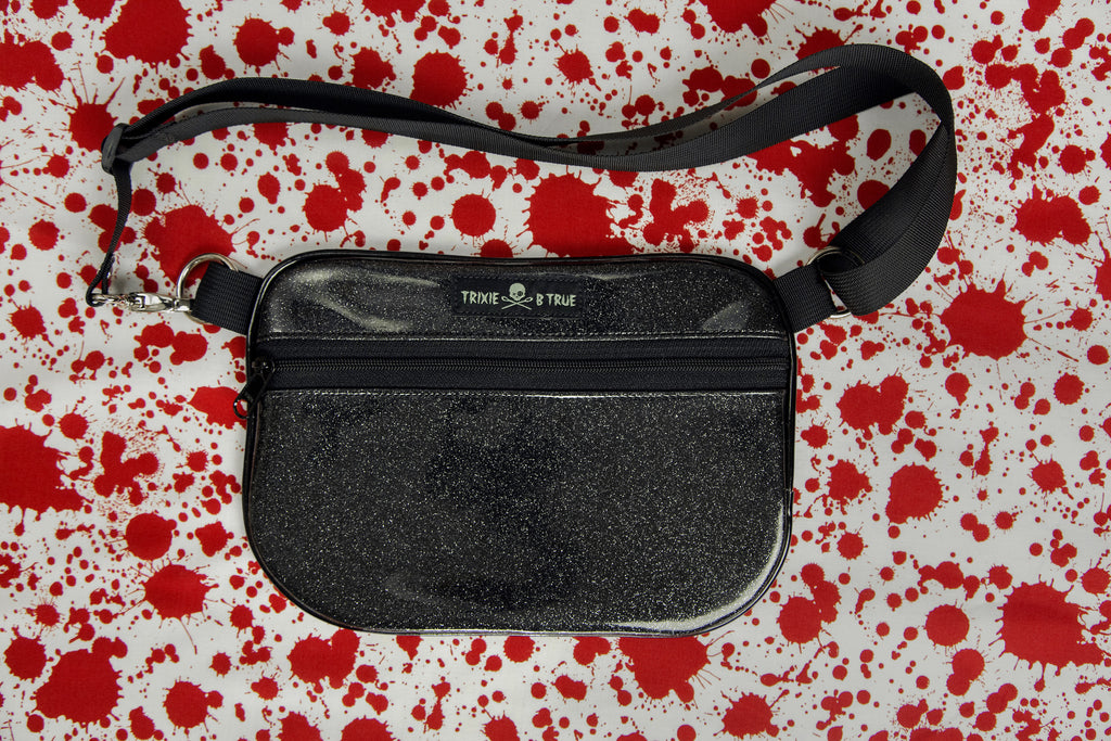1. Black Blood Splatter Fanny Pack/Hip Bag