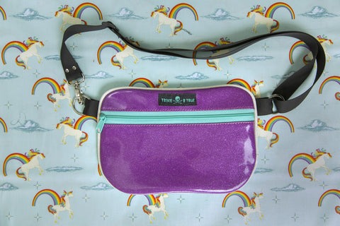 2. Magical Purple Rainbow Unicorn Fanny Pack/ Hip Bag