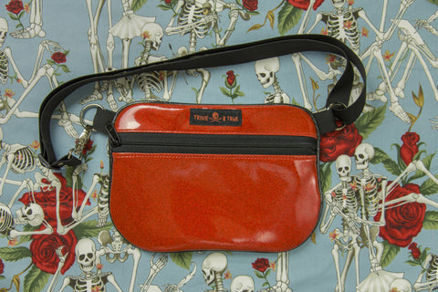 4. Red Skeleton/Rose Fanny Pack/Hip Bag