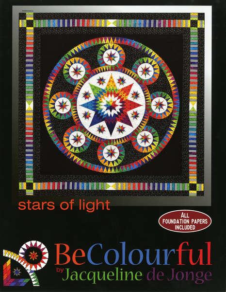 Be Colourful Stars of Light Wheel of Fortune Pattern - Quilting by the Bay