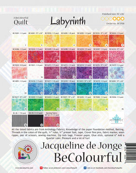 Be Colourful Labyrinth Pattern