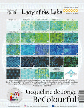 Be Colourful Lady of the Lake Pattern