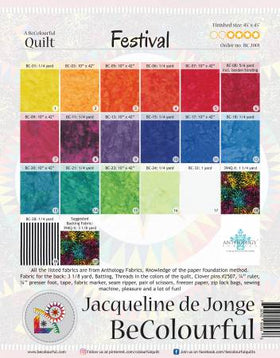 Be Colourful Festival Pattern BC2001