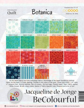 Be Colourful Botanica Pattern BC2006