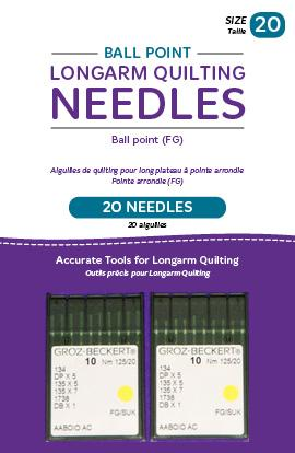 Ball Point Longarm Needles 20/125-FB Two packages - Quilting by the Bay