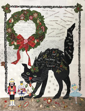 Black Cat Christmas Limited Edition Fabric Kit